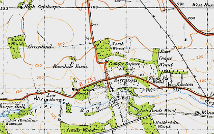 Old map of Boynton in 1947