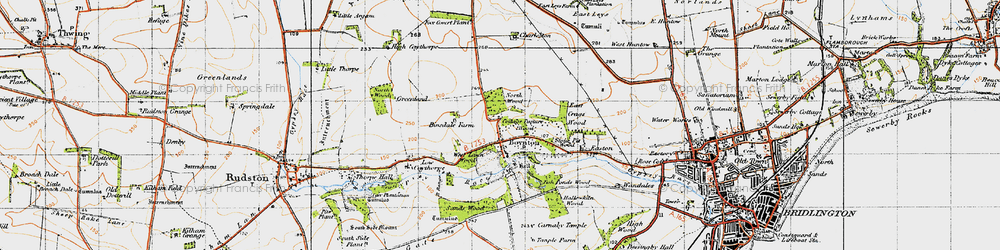 Old map of Boynton in 1947