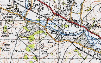 Old map of Boyton in 1940
