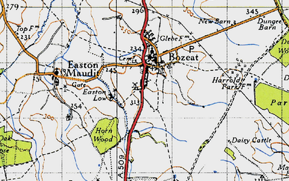 Old map of Bozeat in 1946