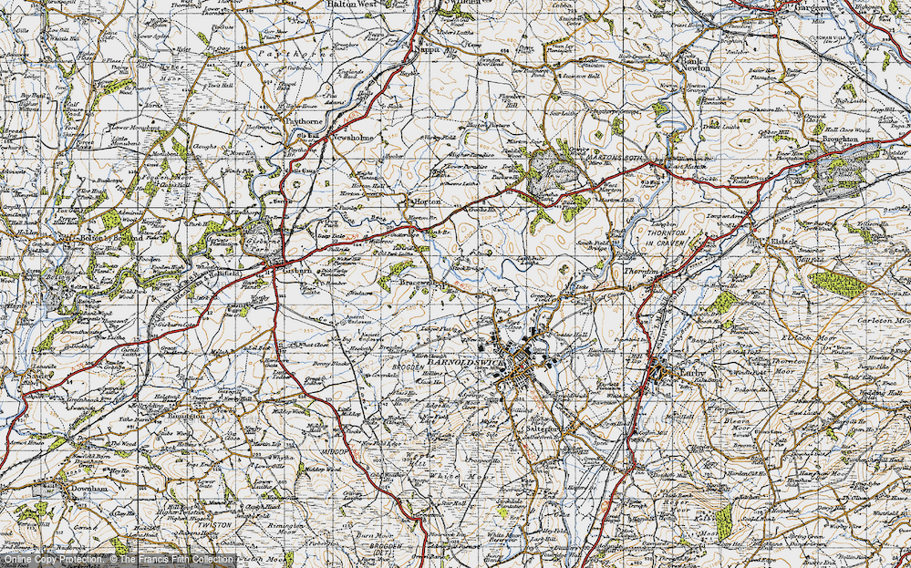 Old Map of Bracewell, 1947 in 1947