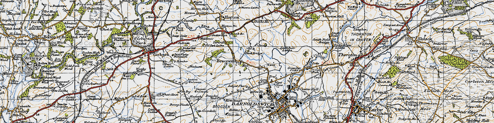Old map of Bracewell in 1947