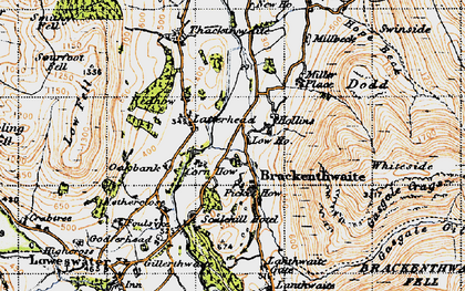 Old map of Whiteside in 1947