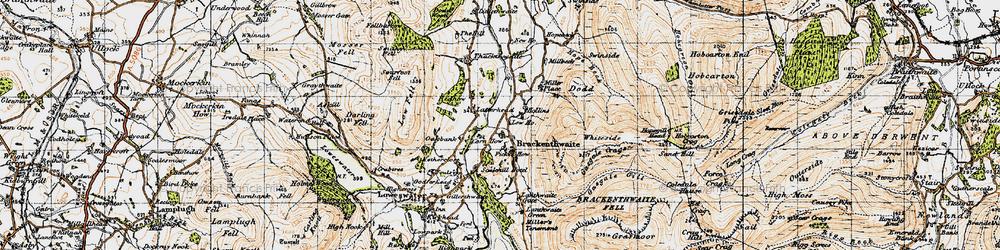 Old map of Latterhead in 1947