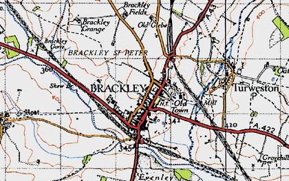Old map of Brackley in 1946