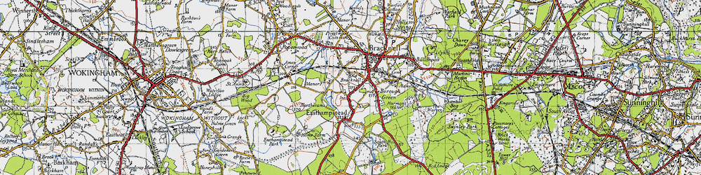 Old map of Bracknell in 1940