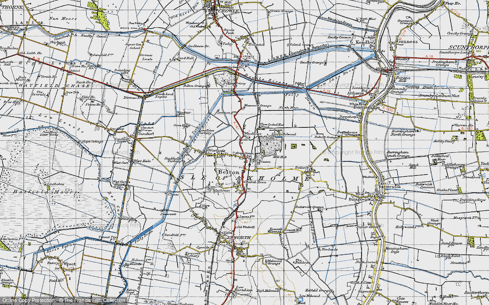 Old Map of Bracon, 1947 in 1947
