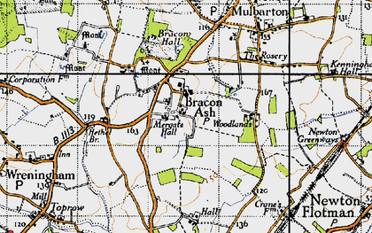 Old map of Mergate Hall in 1946