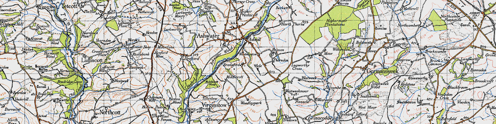 Old map of Woodley Park in 1946