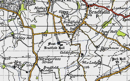Old map of Wix Lodge in 1946