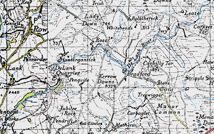 Old map of Whiteheads in 1946