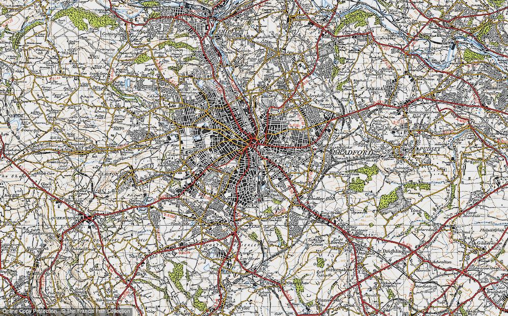 Old Map of Bradford, 1947 in 1947