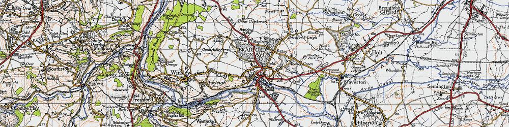Old map of Bradford-On-Avon in 1946