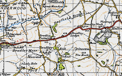 Old map of Agnes Meadow in 1946