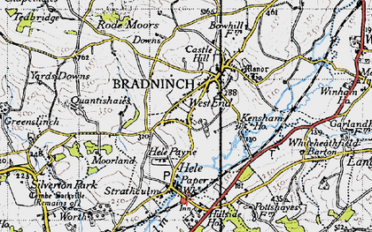 Old map of Bradninch in 1946