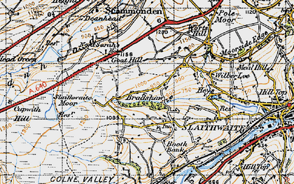 Old map of Worts Hill in 1947