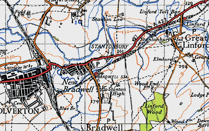 Old map of Bradville in 1946