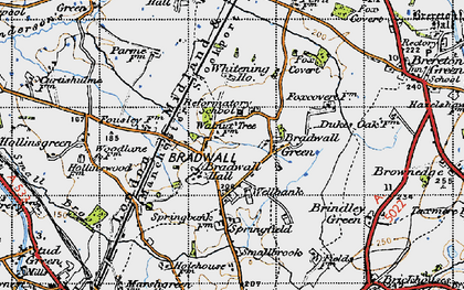 Old map of Whitening Ho in 1947