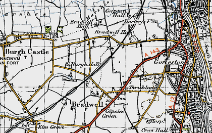 Old map of Bradwell in 1946