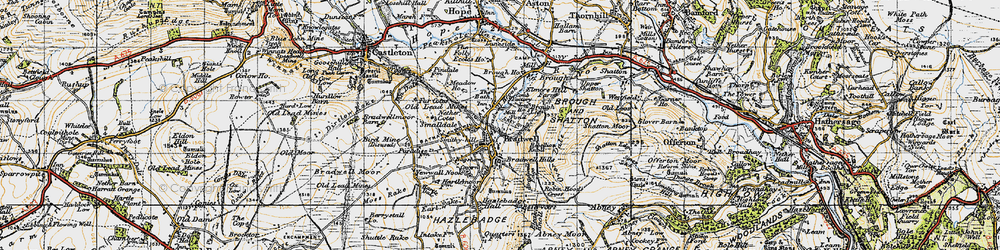 Old map of Bradwell in 1947