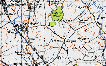 Old map of Bradwell Common in 1946