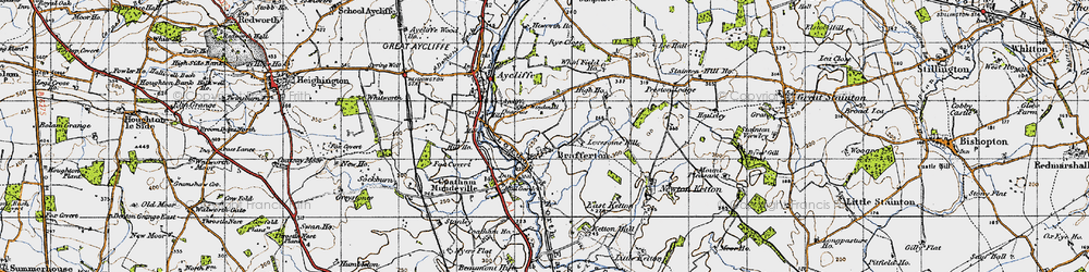 Old map of Whinfield Ho in 1947