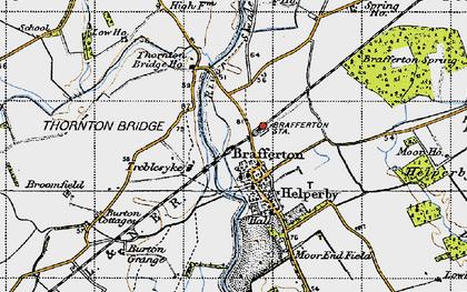 Old map of Brafferton in 1947