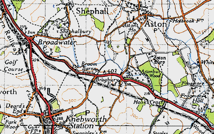 Old map of Astonbury Wood in 1946