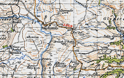 Old map of Braichyfedw in 1947