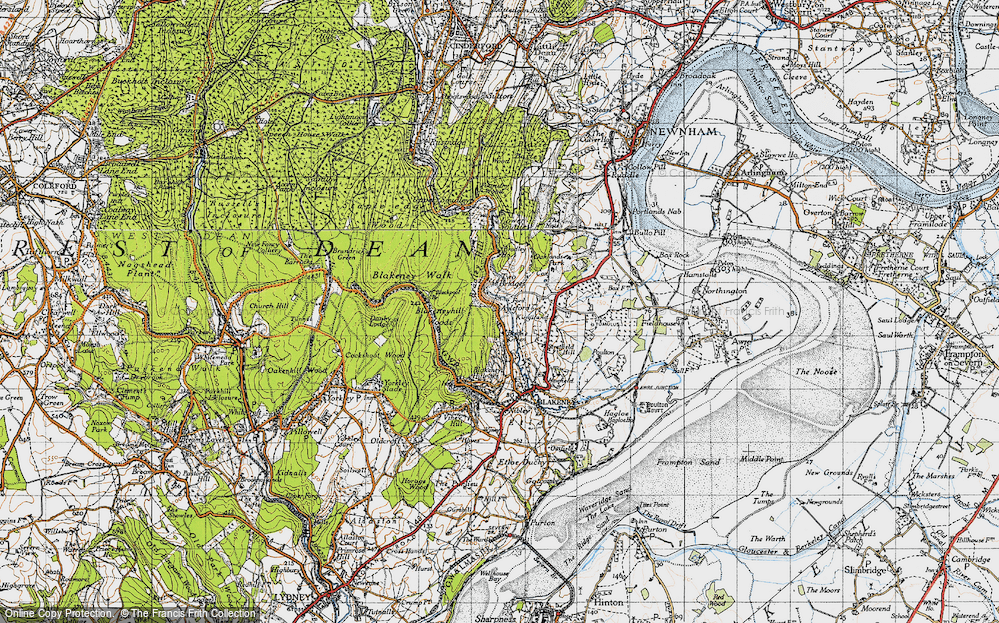 Old Map of Historic Map covering Ayleford in 1946