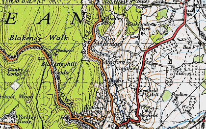 Old map of Ayleford in 1946