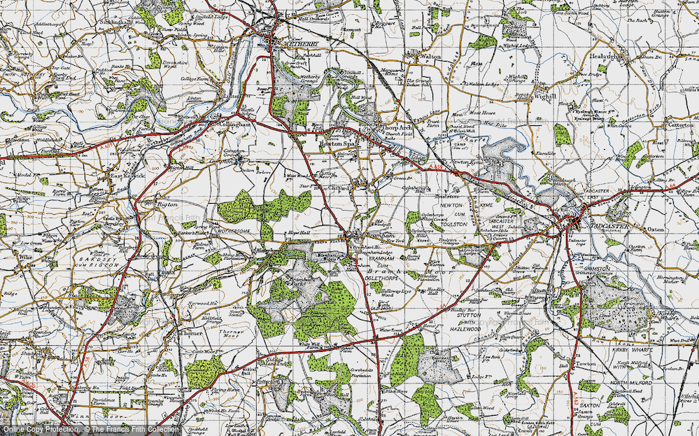 Old Map of Bramham, 1947 in 1947