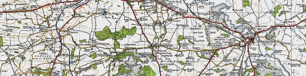 Old map of Wise Warren in 1947