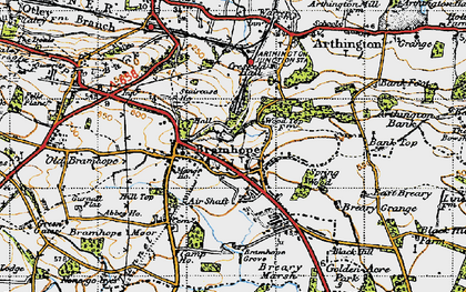 Old map of Bramhope in 1947
