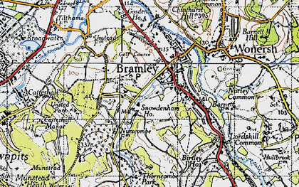 Old map of Bramley in 1940