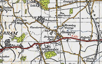 Old map of Bramley in 1947