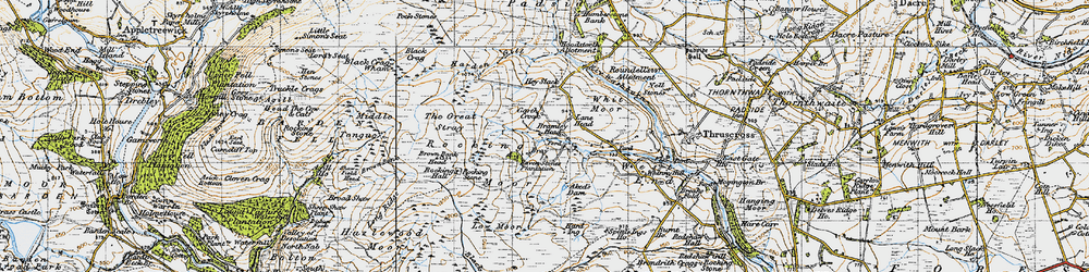 Old map of Aked's Dam in 1947