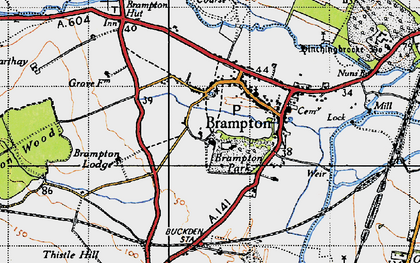 Old map of Brampton in 1946