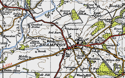 Old map of Wood's Hill in 1947