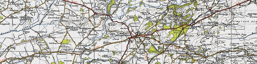 Old map of Aaron's Town in 1947