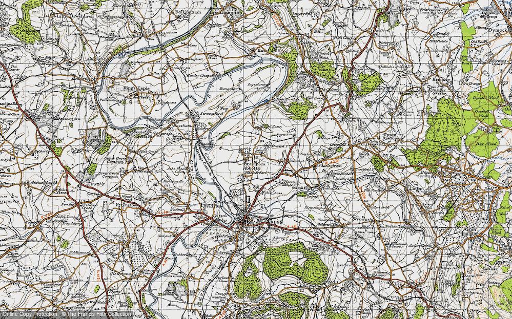 Old Map of Brampton Abbotts, 1947 in 1947
