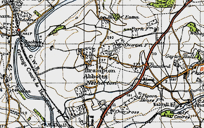 Old map of Brampton Abbotts in 1947