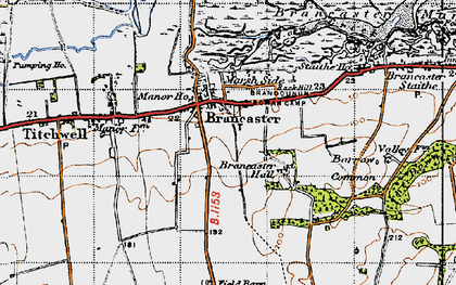 Old map of Brancaster in 1946