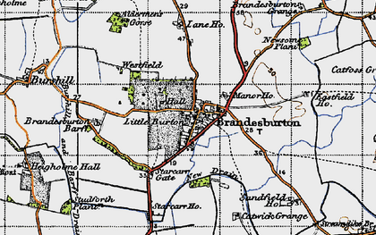 Old map of Barff Ho in 1947