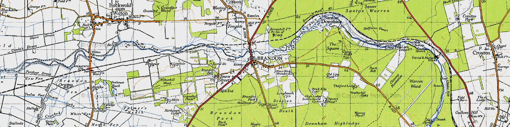 Old map of Wiltonhill Wood in 1946