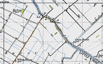 Old map of Brandon Bank in 1946