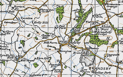 Old map of Brandsby in 1947