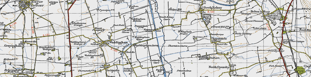 Old map of Winghale Priory in 1947