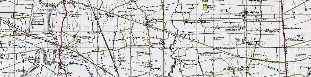 Old map of Aldhow Grange in 1947