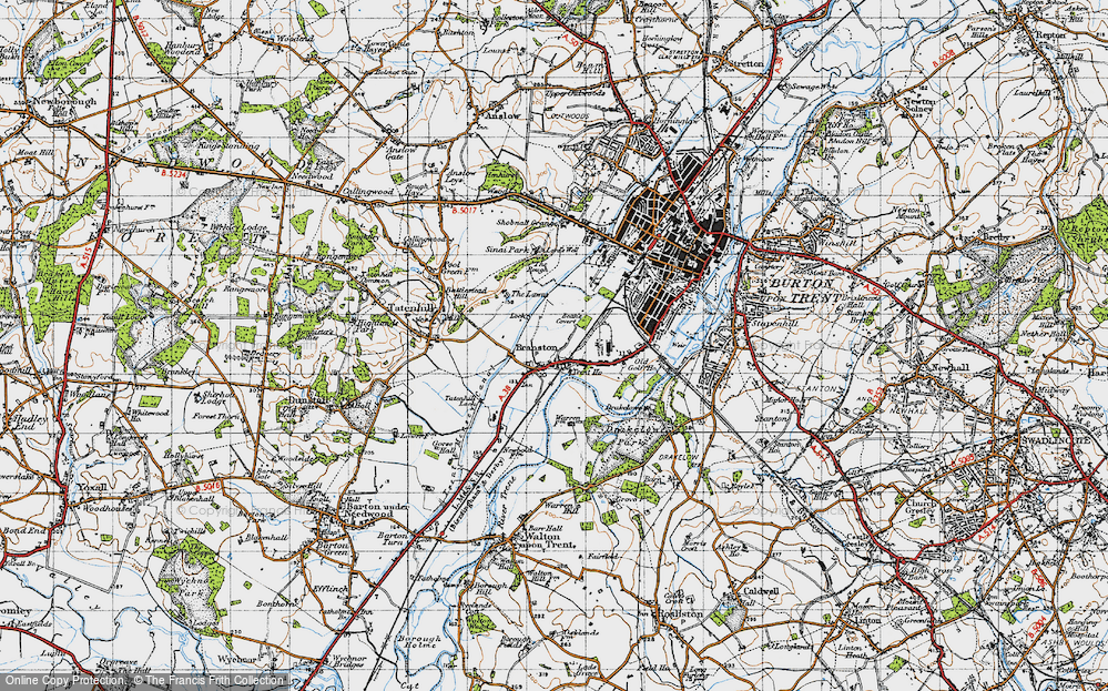 Old Map of Branston, 1946 in 1946